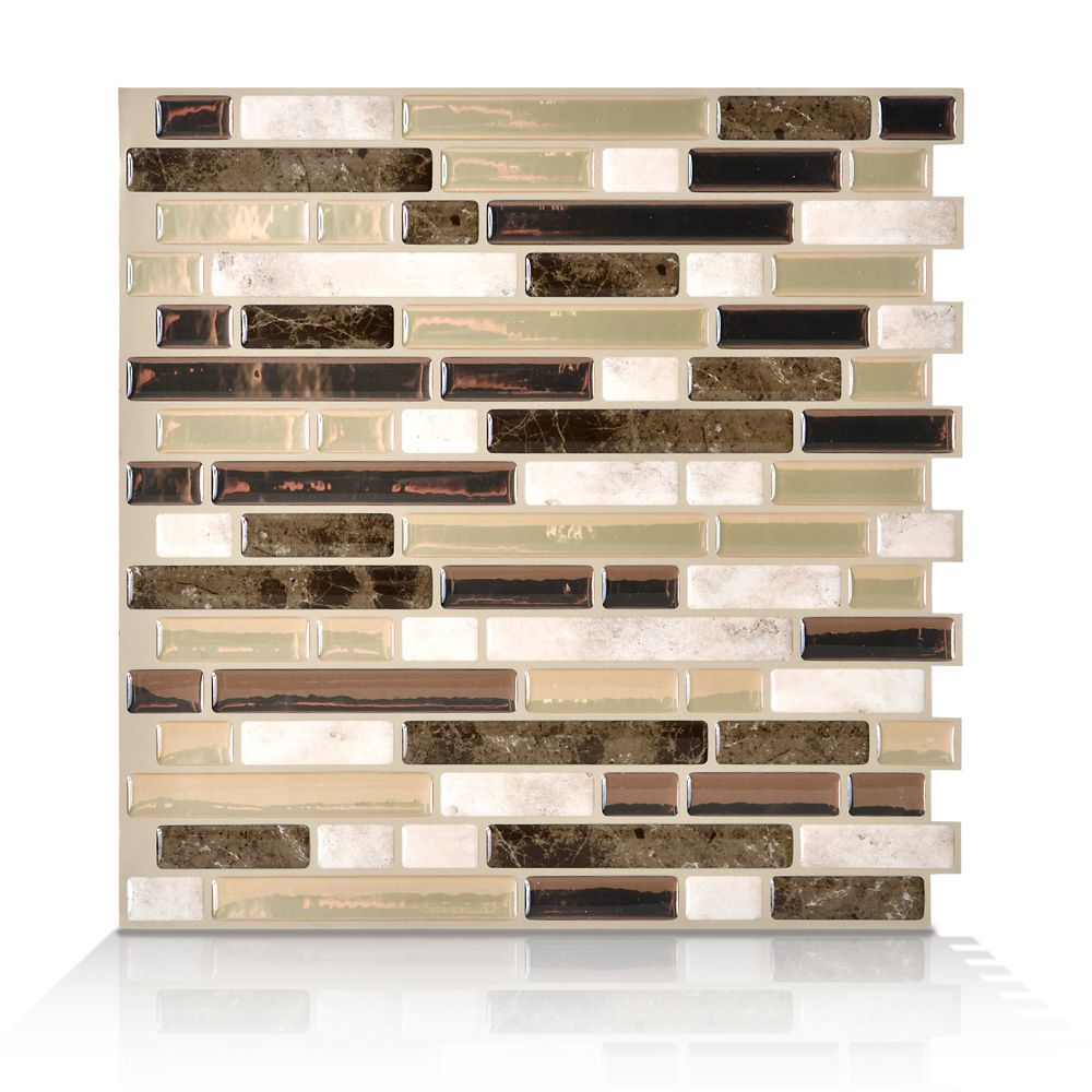 Smart Tiles 6 Pieces 10 06 Inch X 10 Inch Peel And Stick Bello Mosaik The Home Depot Canada