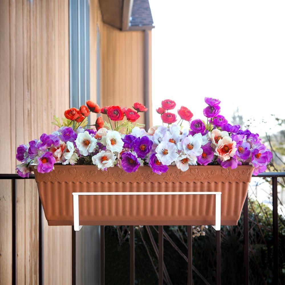sun joe porte jardini re r glable blanc deco joe home depot canada. Black Bedroom Furniture Sets. Home Design Ideas