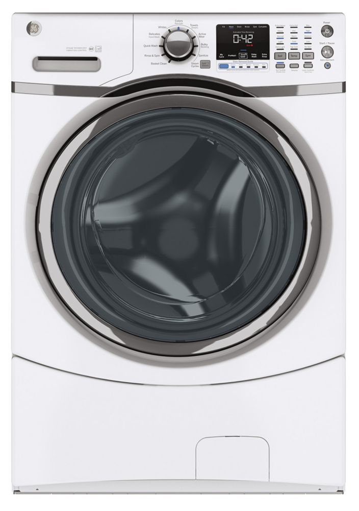 5.0 cu. ft. Front Load Washer with Stainless Steel Drum in White
