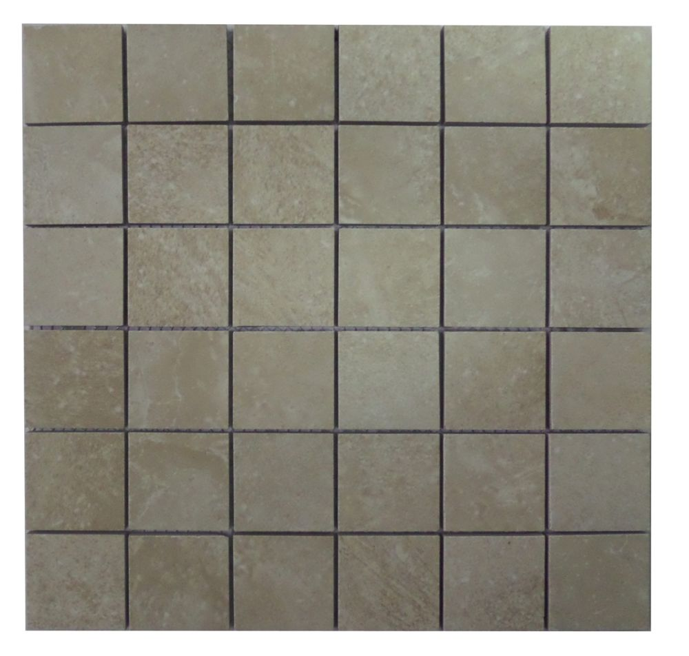 Finesse White 12 Inch X 12 Inch X 6mm Glazed Ceramic Mosaic Wall Tile 10 Sq Feet Case