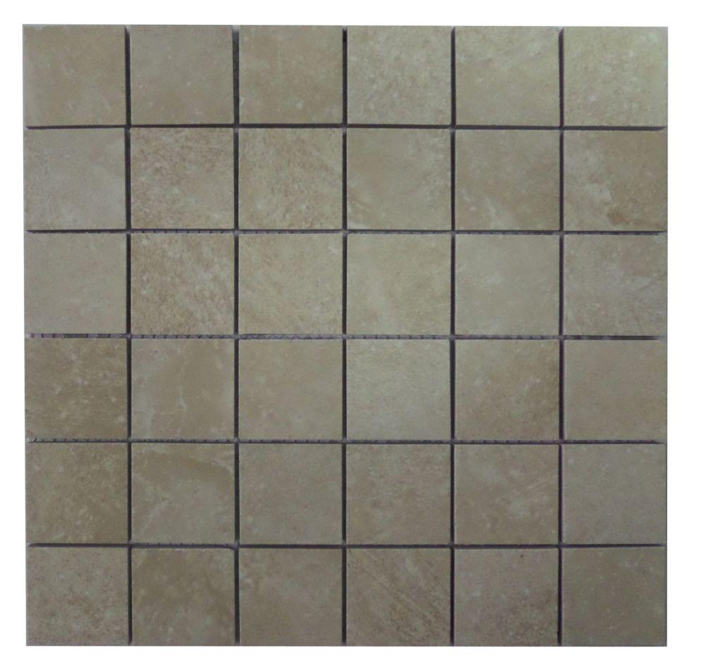 Finesse White 12 Inch X 12 Inch X 6mm Glazed Ceramic