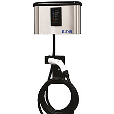 Indoor/Outdoor Electric Vehicle 16Amp Charging Station with Advanced Cord Management - Hardwired