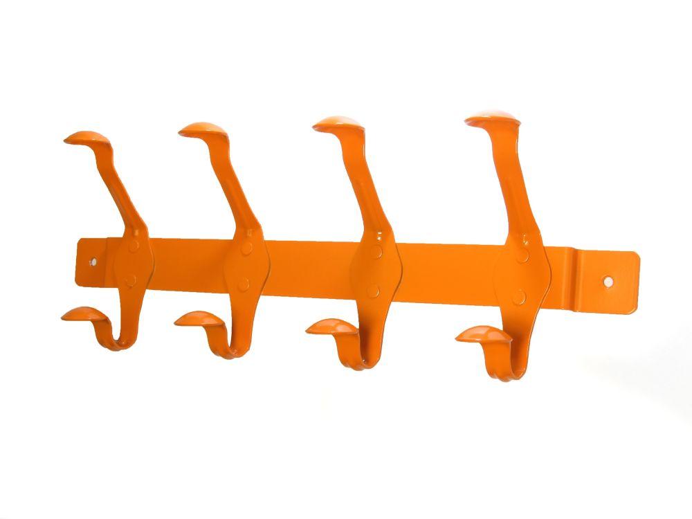 Tangerine orange hook rail