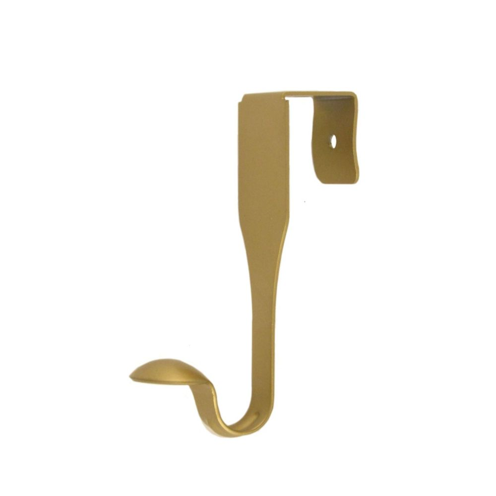 Satin brass single over the door hook