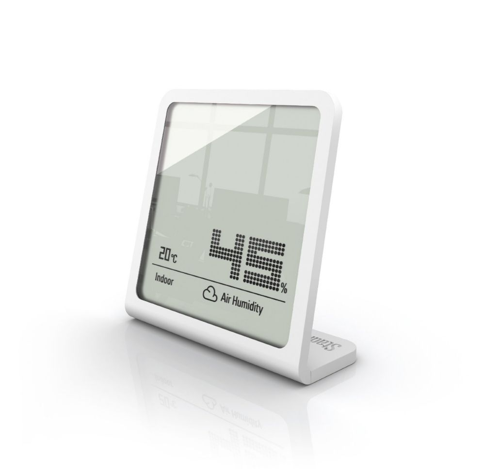 Selina White Hygrometer - Measures Humidity And Temperature Simultaneously