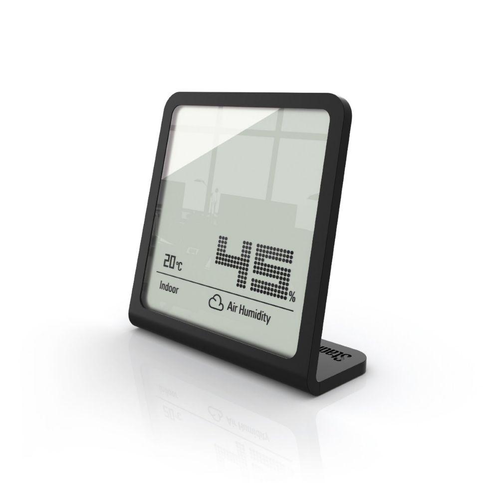 Selina Noire hygromètre - Mesure l'humidité et la température simultanément