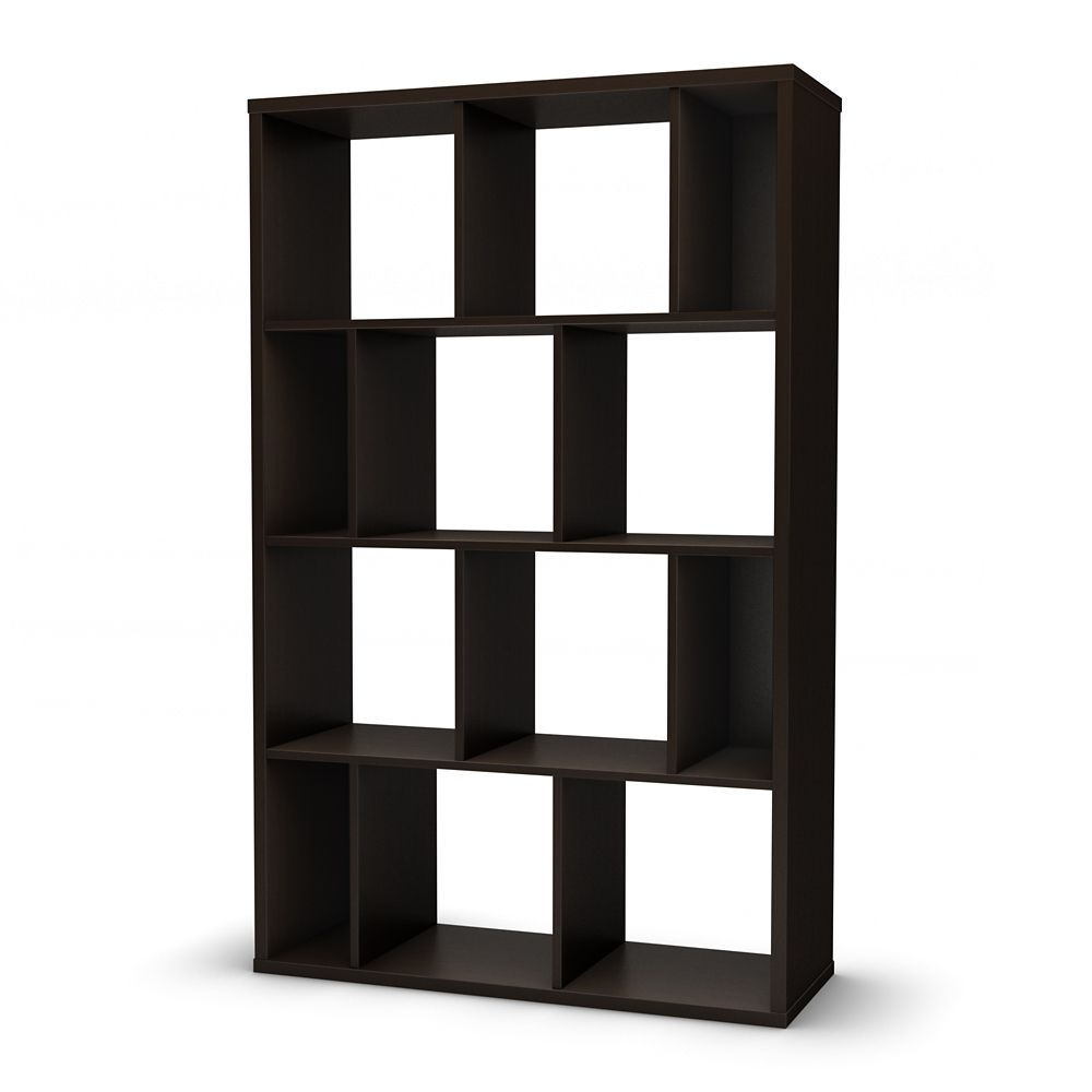 Reveal Collection Shelving Unit Chocolate