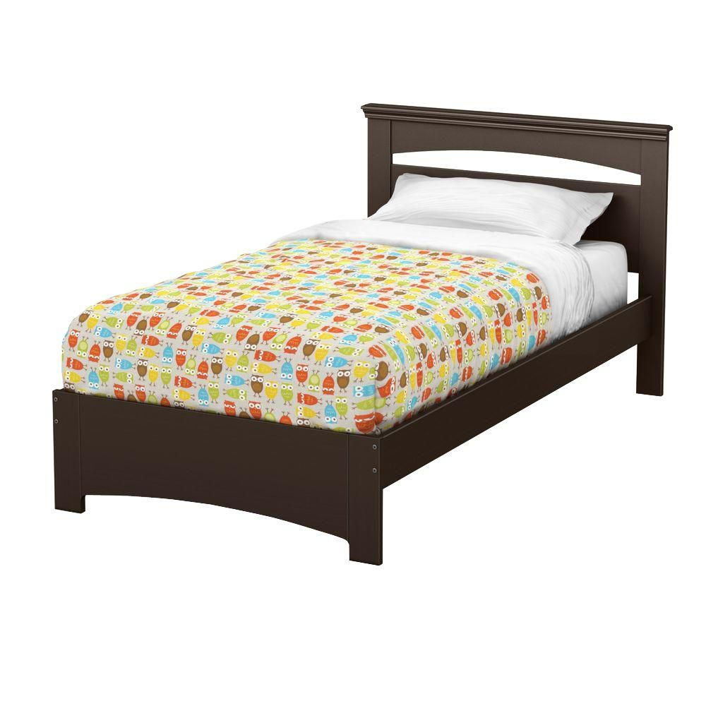 Libra Twin Bed Set (39 inch), Chocolate