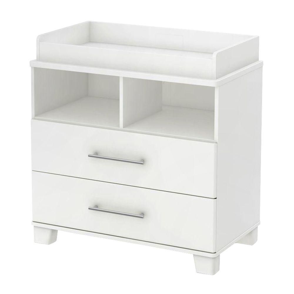 Cuddly Changing Table With Removable Changing Station, Pure White