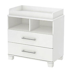South Shore Cuddly Changing Table With Removable Changing Station, Pure White