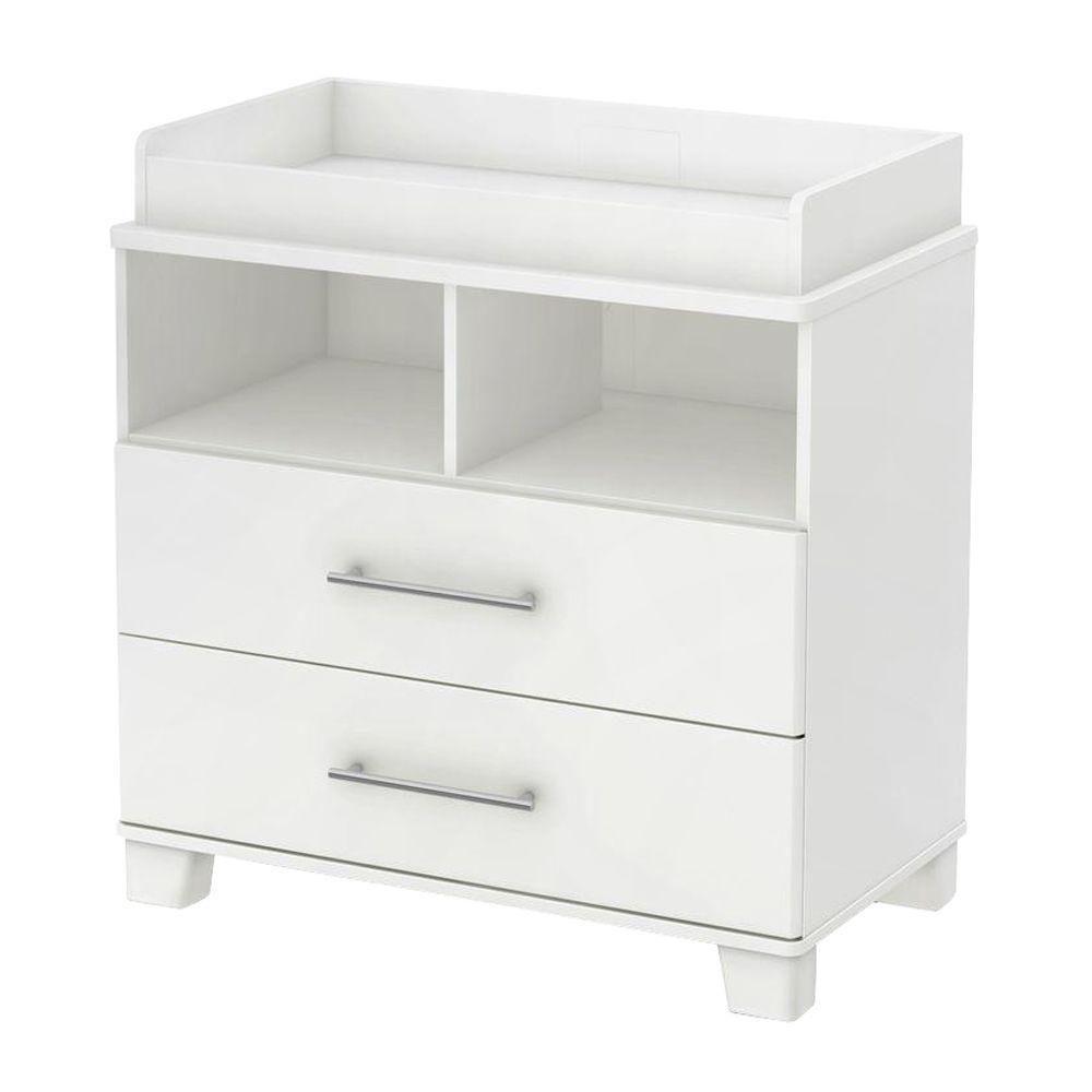 Table à langer avec pourtour amovible, Blanc solide, collection Cuddly