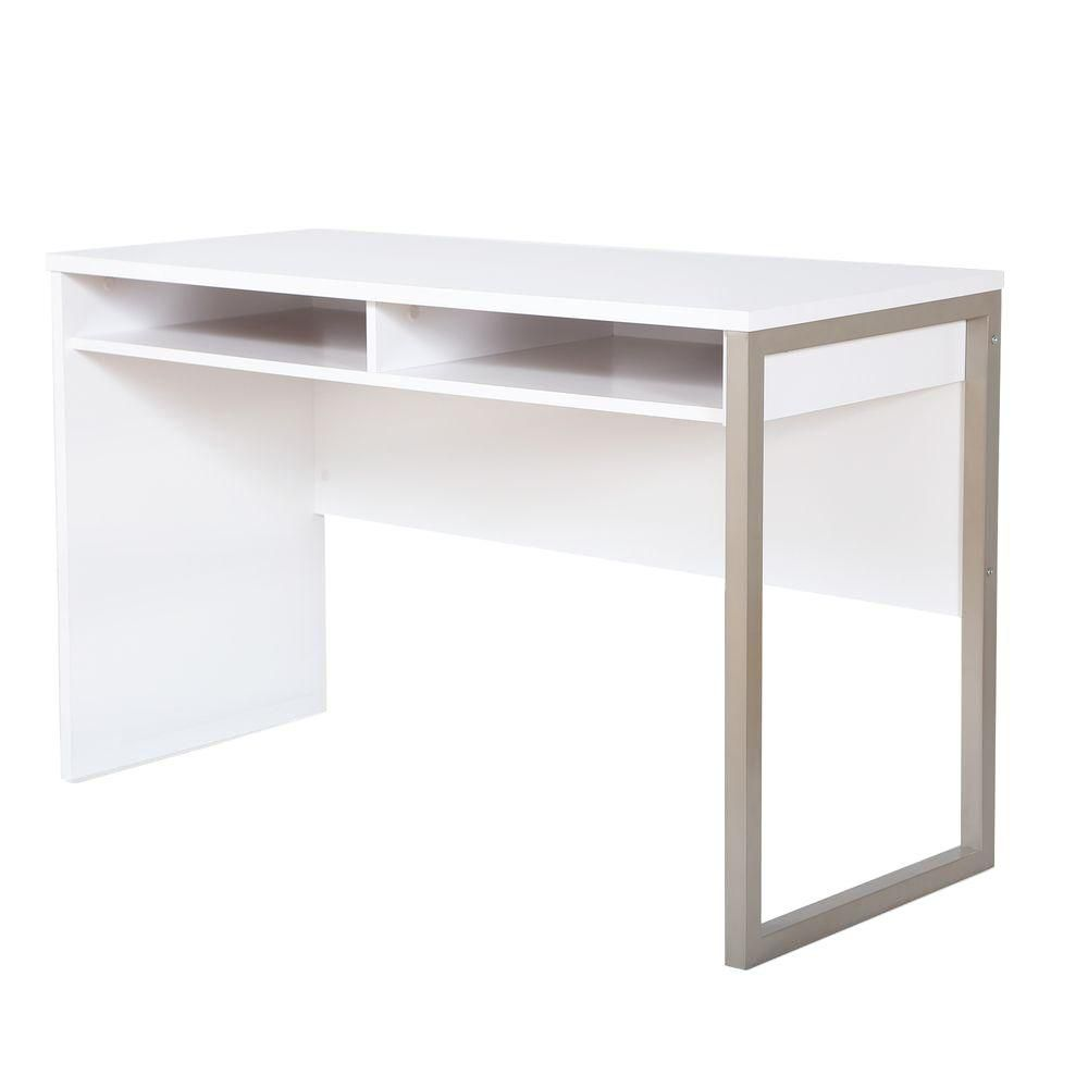 Bureau de travail, Blanc solide, collection Interface