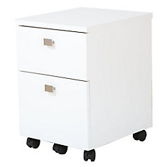 Interface 2-Drawer Mobile File Cabinet, Pure White