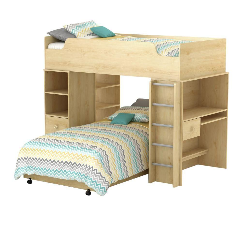 Logik Collection Loft Bed Natural Maple 2813A4 Canada Discount