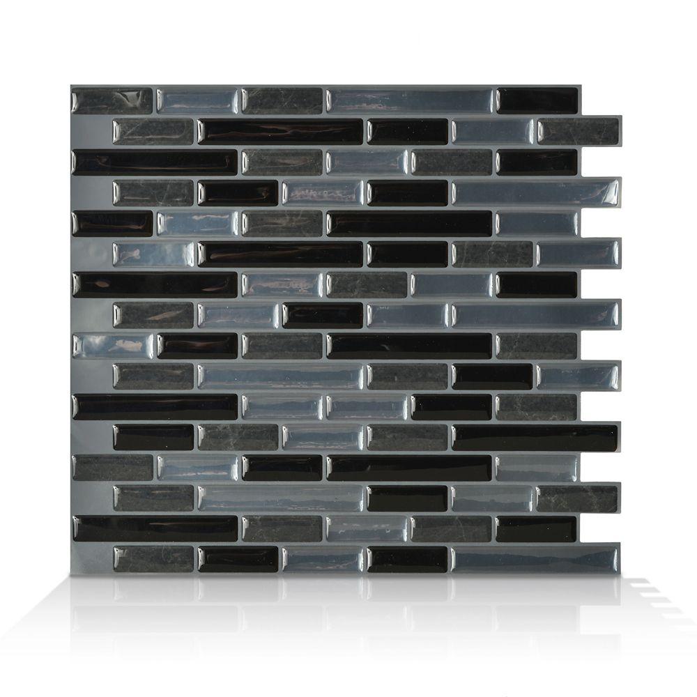 1 - Piece 10,20  Inch. X 9,10  Inch. Peel And Stick Nero Mosaik