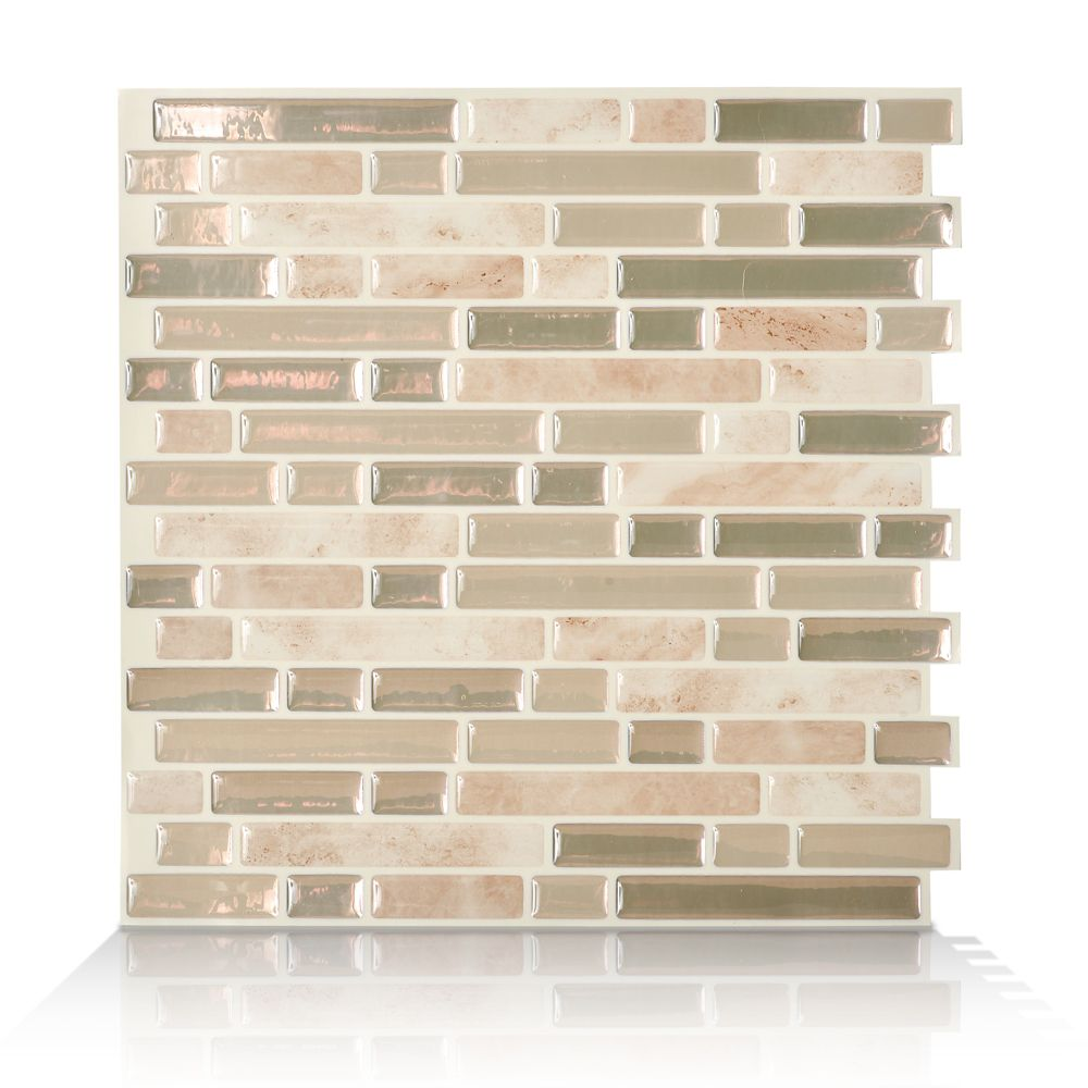 6 - Pieces 10,06  Inch. X 10  Inch. Peel And Stick Sabbia Mosaik