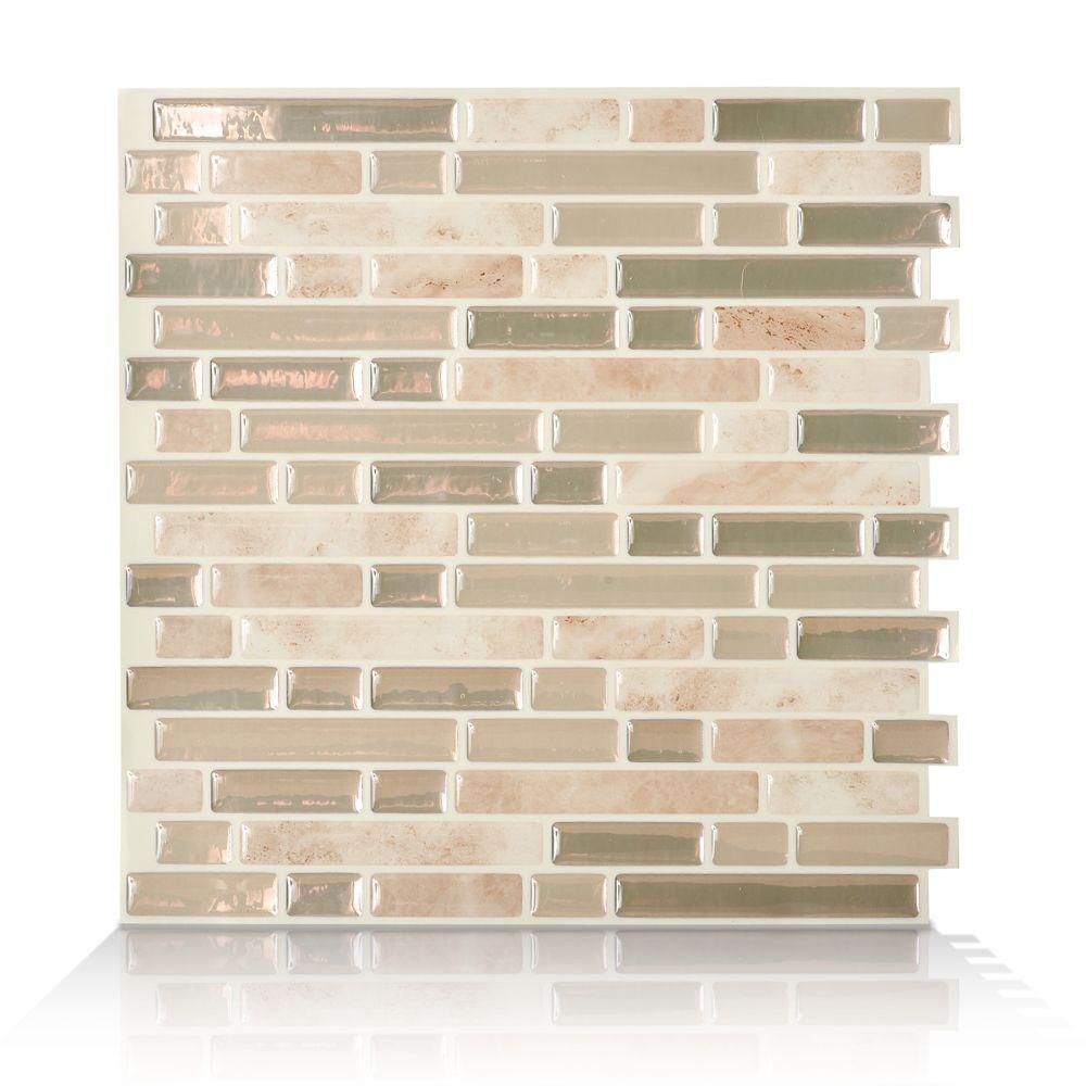 6 - Pièces 10,06 po x 10 po Mosaik Sabbia Autocollant