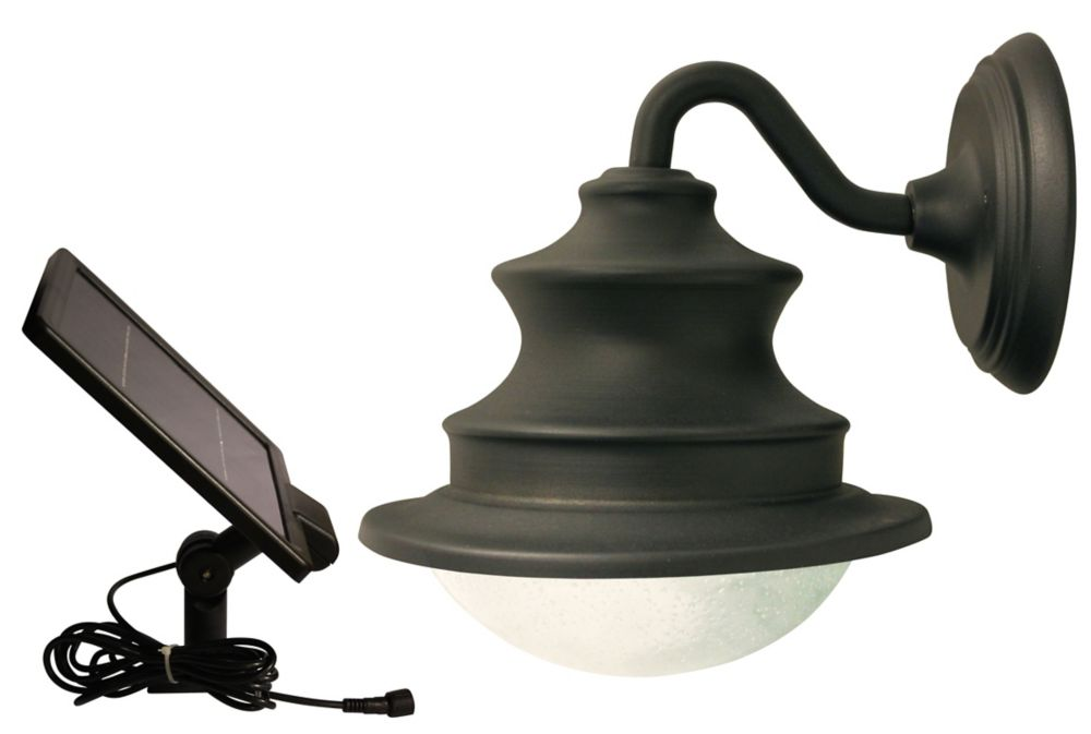 Gooseneck Wall Mount Lamp : Gama Sonic Solar LED Gooseneck Wall-Mount Barn Light The Home Depot Canada