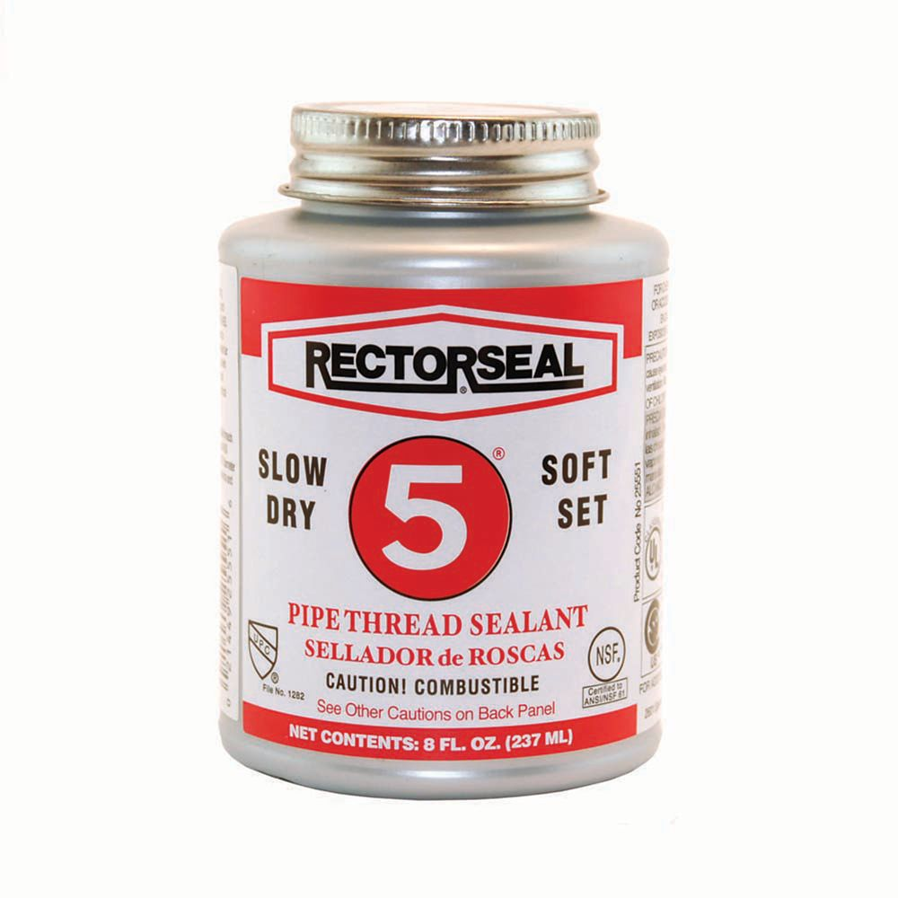 Rector Seal Brand Slow-Dry Pipe Thread Sealant 5 - Contractor Pack of 6