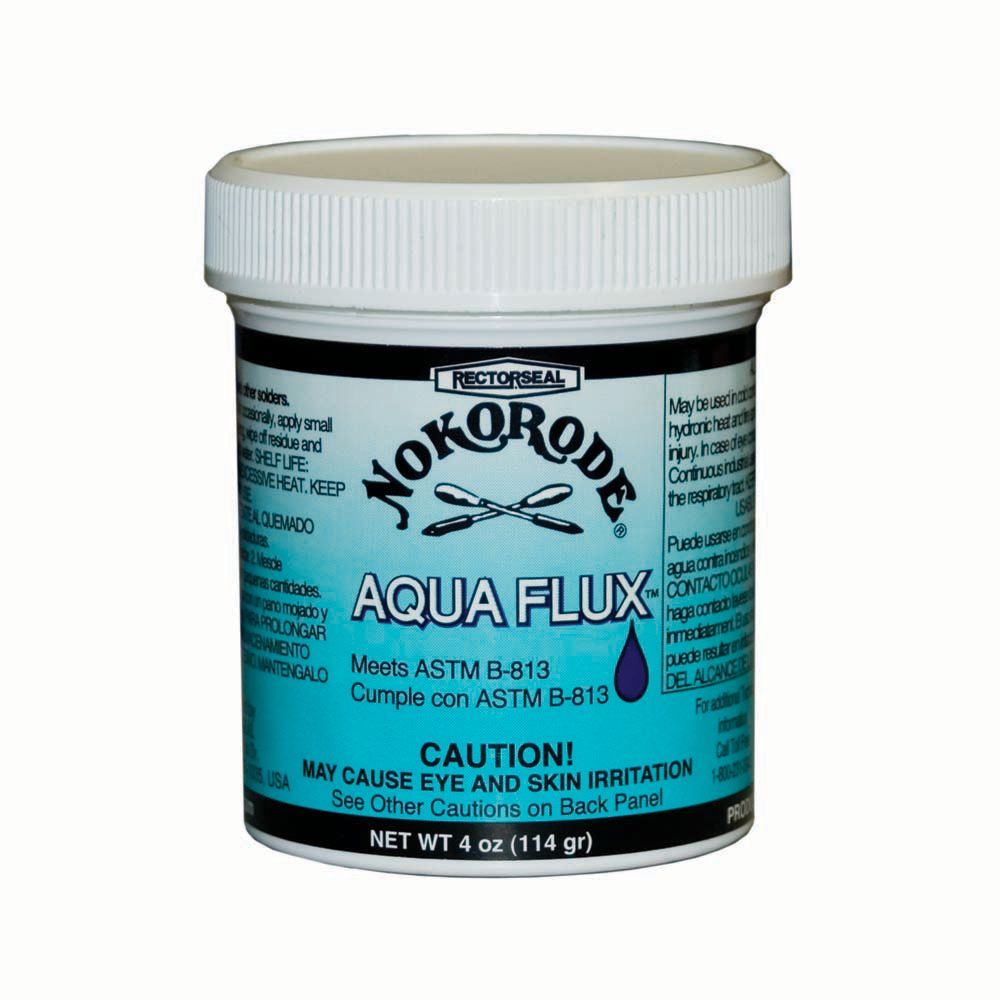 Nokorode Aqua Flux by RECTOR SEAL -  4 oz container