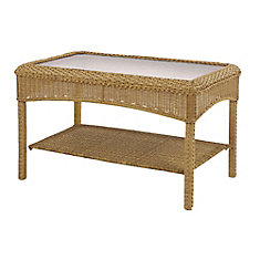 Charlottetown Natural Wicker Patio Coffee Table
