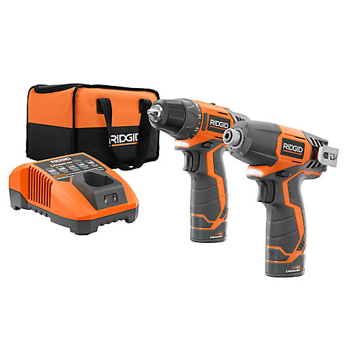 12V Hyper Lithium-Ion Drill/Driver and Impact Driver Combo Kit (2-Tool) with (2) 1.5Ah Batteries