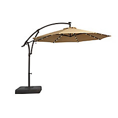 11 Ft. Offset Patio Umbrella With Solar LED Lights ...