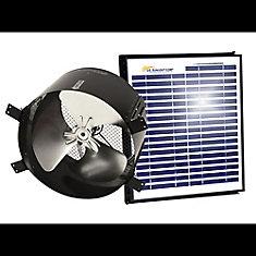 15 Watt Solar Gable Fan All Purpose Ventilator Ventilates up to 1900 Sq. Feet.