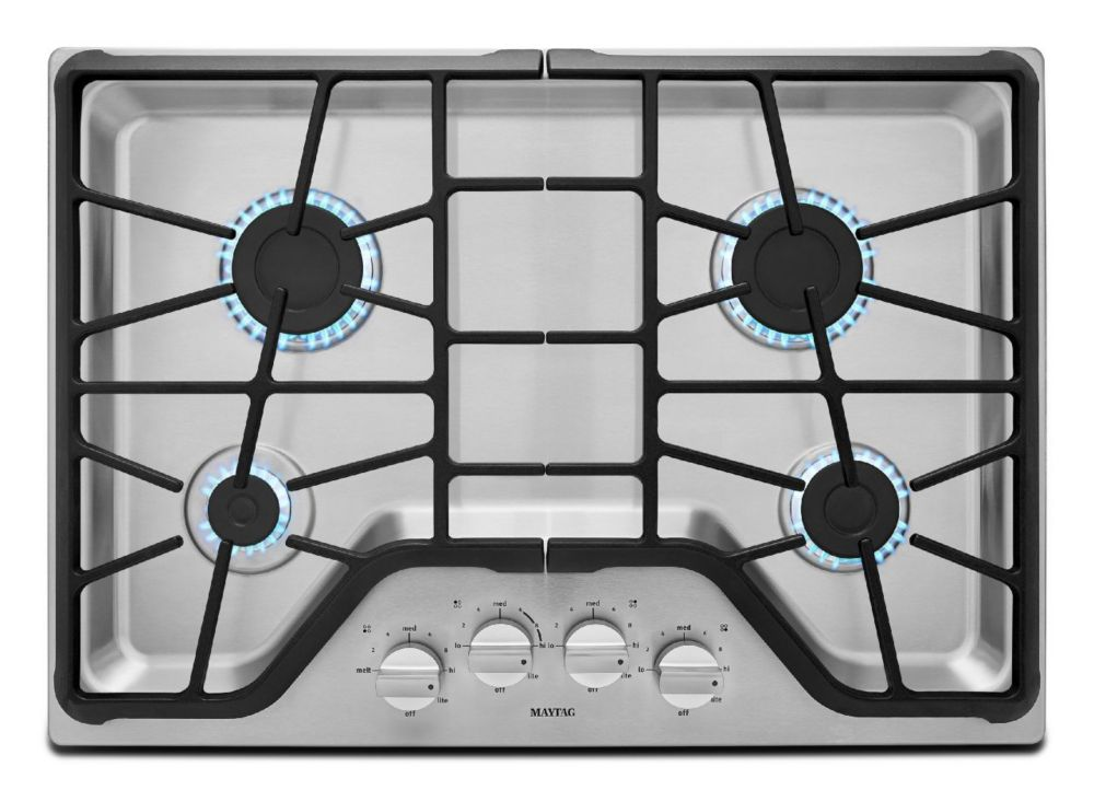 Maytag 30 Inch Four Burner Gas Cooktop With Power Burner