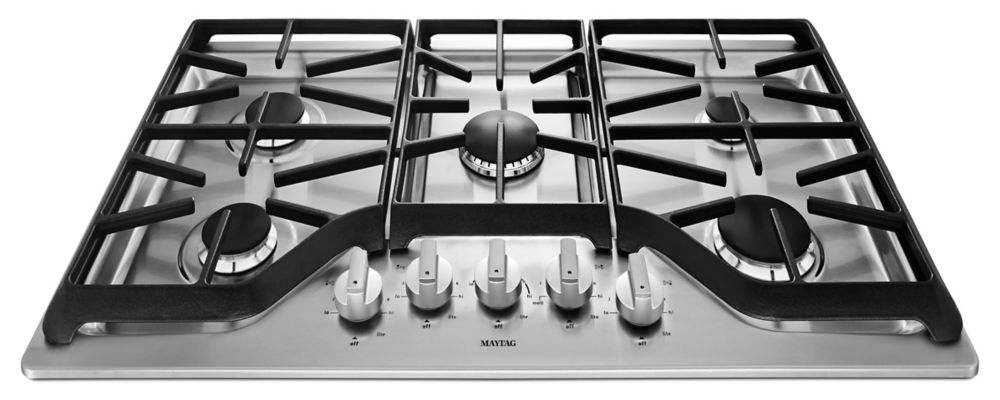 36-inch Five Burner Gas Cooktop with DuraGuard� Protective Finish