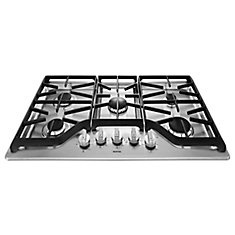 36-inch Gas Cooktop in Stainless Steel with 5 Burners including Power Simmer Dual Stacked Burner