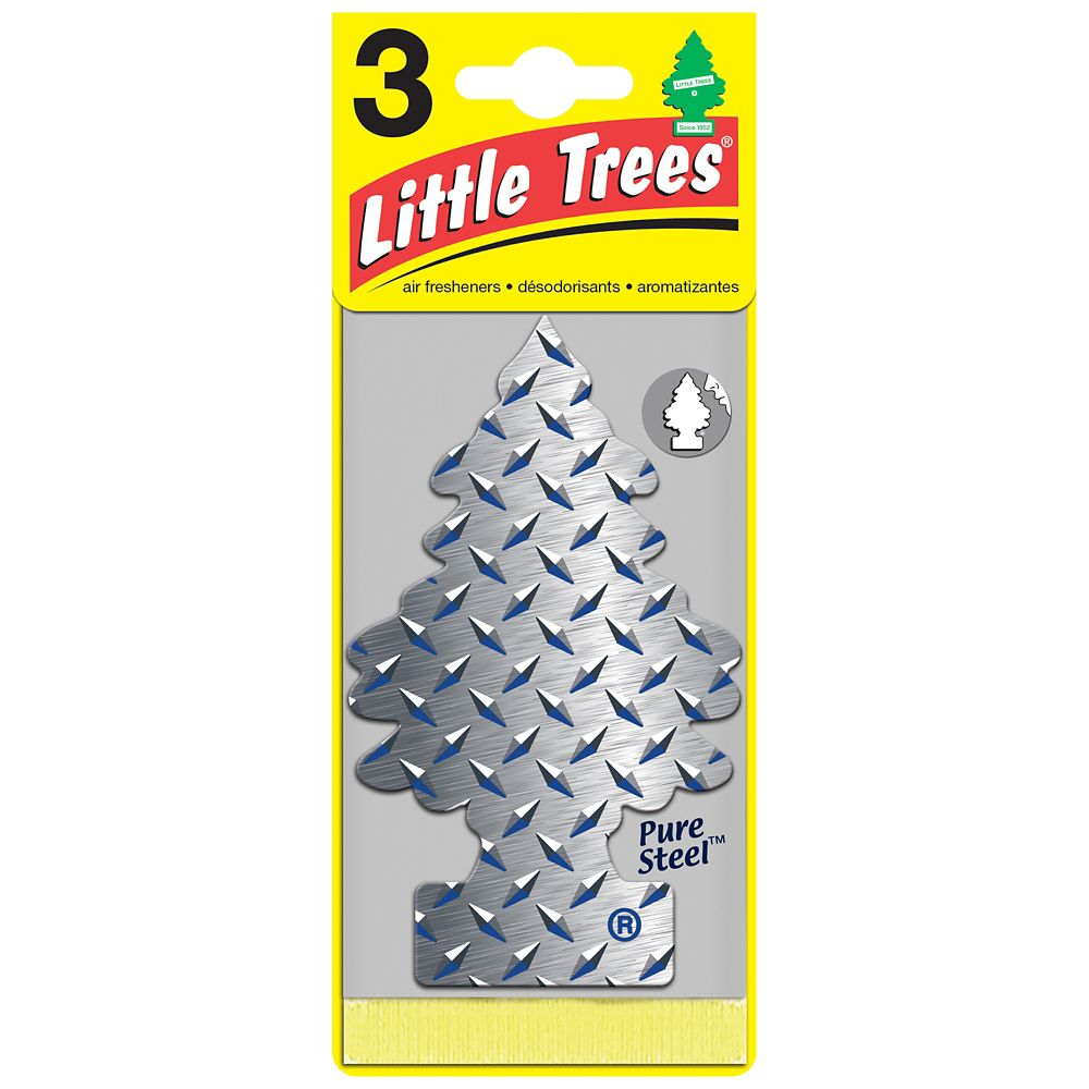 Little Trees Pure Steel 3-pack