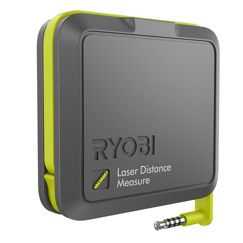 Ryobi phone works laser distance measurer the home depot canada - Laser mesure distance ...