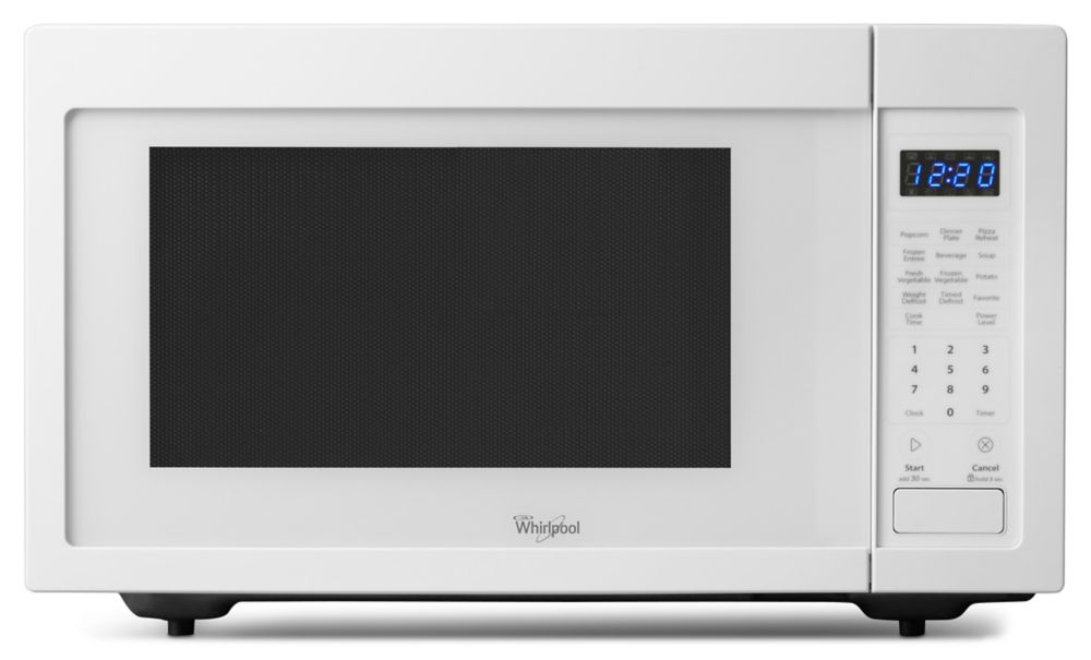 1.6 cu. ft. Countertop Microwave Oven with Optional Built-In Trim Kit in White