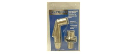Side Spray With Hose Guide. Chrome-Plated. Clam Shell Packaging