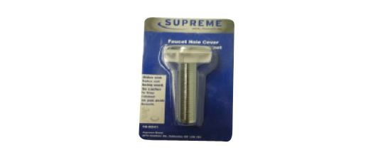 Faucet Hole Cover. Chrome-Plated. Clam Shell Packaging