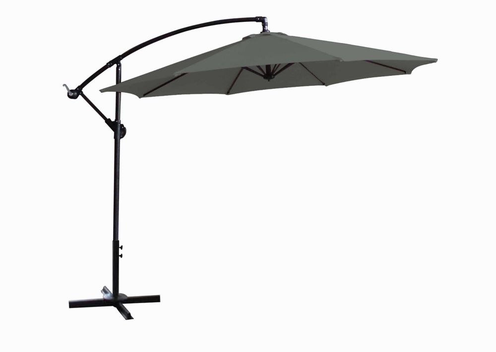 10 ft. Offset Umbrella in Green