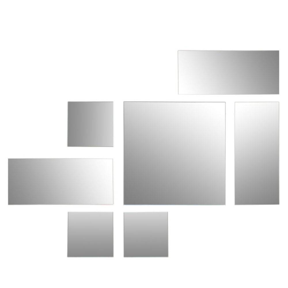 FN19623-2 Mex Series Square and Rectangular Floating with Hanging Template Mirrors, Set of 7