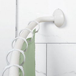 Zenna Home Curved Shower Rod in White