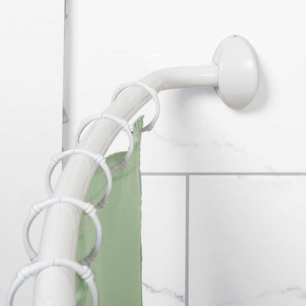 Curved Shower Rod in White