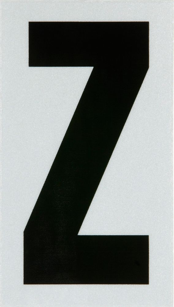 3 Inch Black & Silver Reflec Mylar Z