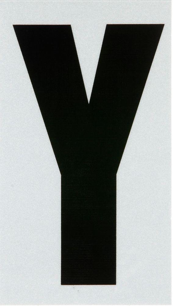 3 Inch Black & Silver Reflec Mylar Y