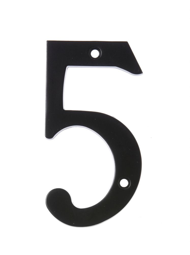 6 Inch Black House Number 5