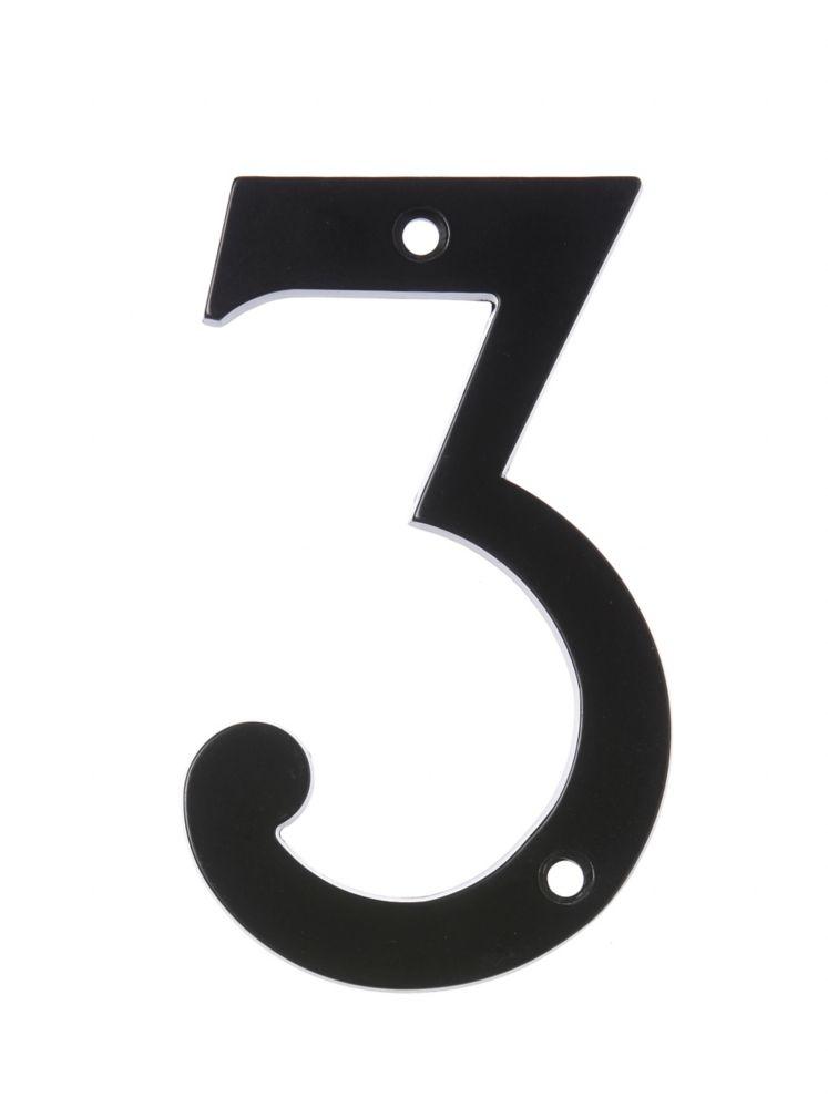 Numéro D'adresse 6 Po, Fini Noir, 3