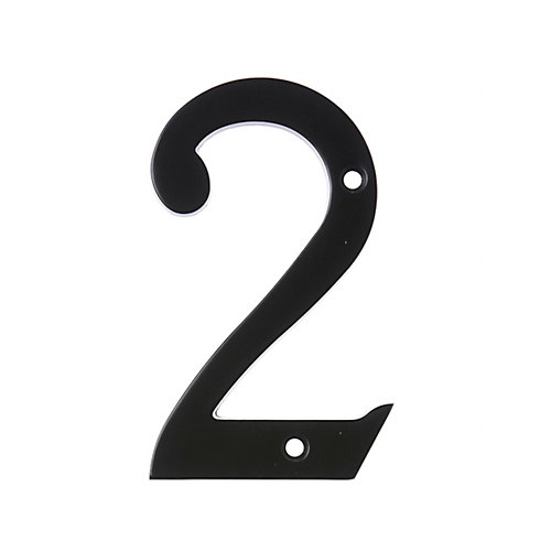 6 Inch Black House Number 2