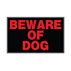 10-inch x 14-inch Aluminum Sign Beware Of Dog
