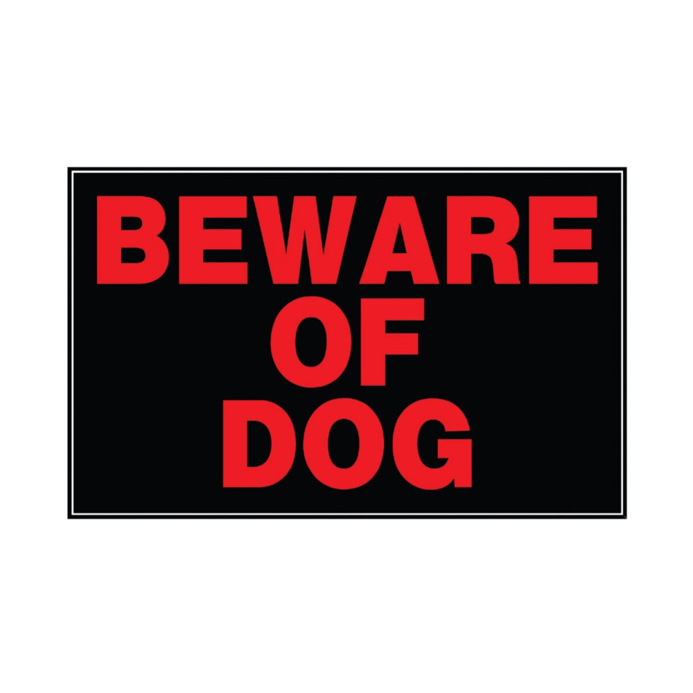 Affiche Aluminium 8 X 12 - Beware Of Dog
