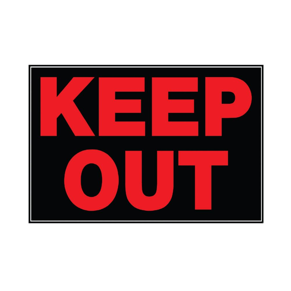 10 Inch X 14 Inch Aluminum Sign Keep Out