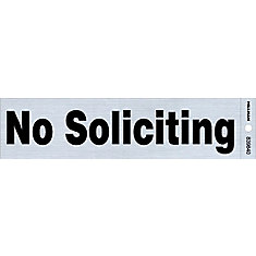 2x8 Sign - No Soliciting