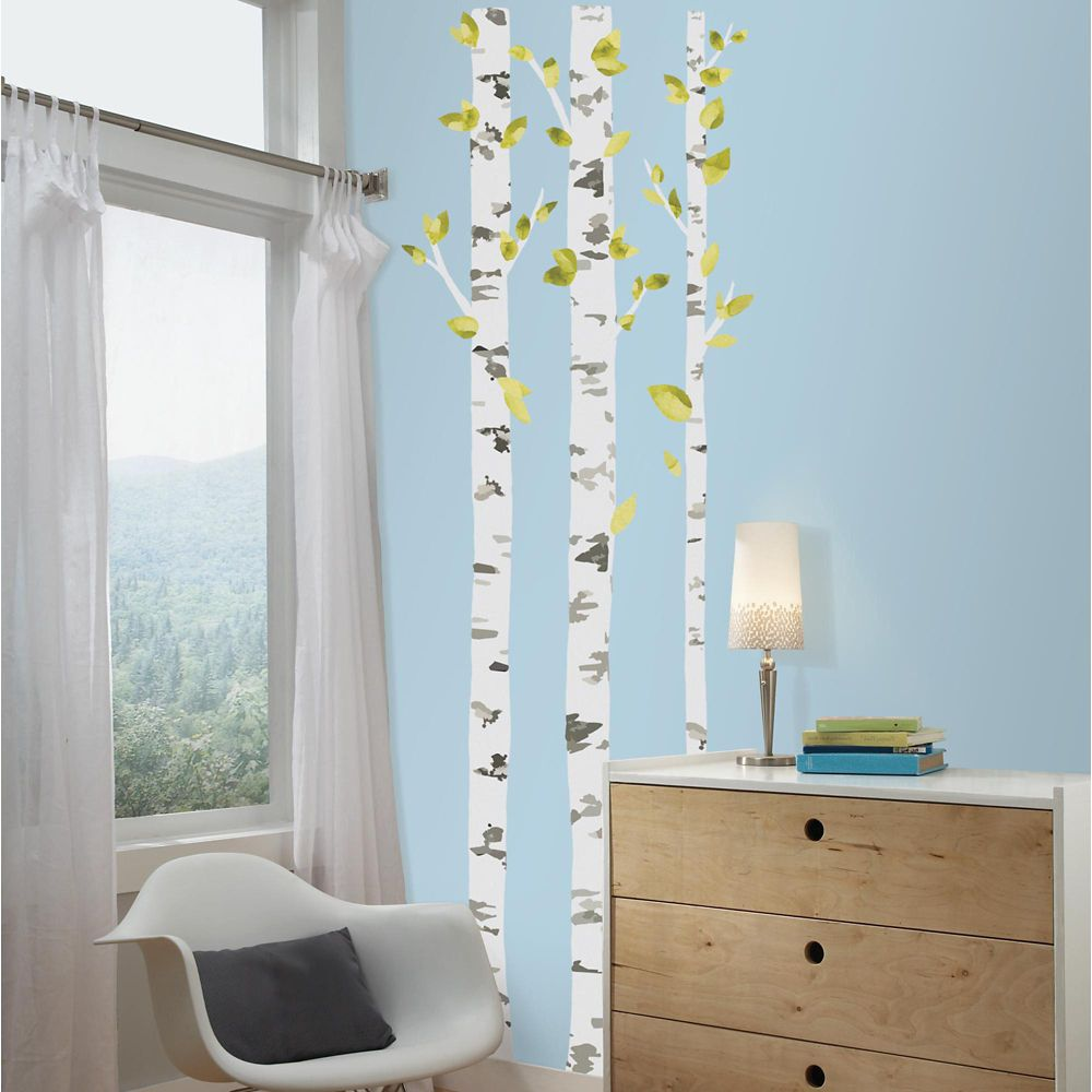 Birch Trees Peel and Stick Giant Wall Decals
